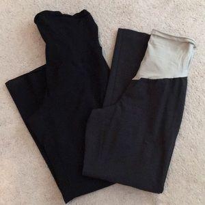 2 pair maternity work pants